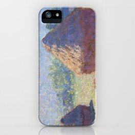 1891-Claude Monet-Haystacks, end of Summer-60 x 100 iPhone Case