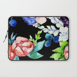 Contemporary, Chic, Floral Bouquet Watercolor Print Laptop Sleeve