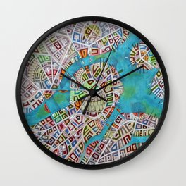imaginary map of boston  Wall Clock