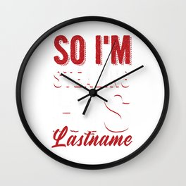 Matching Girlfriend Fiance Engagement Party I'm Stealing His Lastname Wall Clock