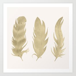 Golden Leaves Art Print