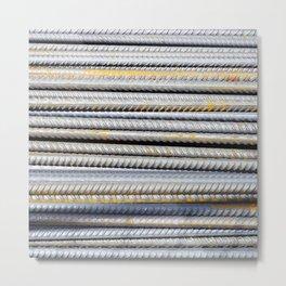Steely Metal Print