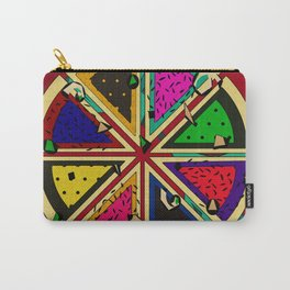 Pizza Patterned Pie Carry-All Pouch