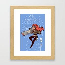 Köpke's Lasergirl - Enter the Robot! Framed Art Print