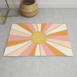 sundial shine, clay Rug