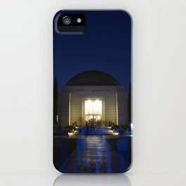 A Ghostly Visit at Griffith Observatory iPhone Case