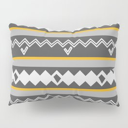 Gray stripes and native shapes Pillow Sham