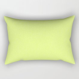 Dense Melange - White and Fluorescent Yellow Rectangular Pillow