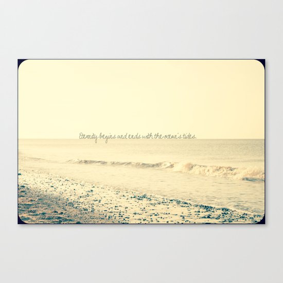 Eternity begins and ends with the ocean's tides. Canvas Print