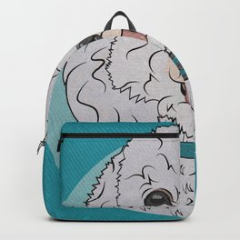 Icons of the Dog Park Bichon Frise  Design in Bold Colors for Pet Lovers Backpack