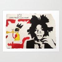 basquiat Art Prints featuring Basquiat by JahMarie