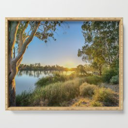 River Sunrise Serving Tray