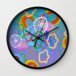 Alien Organisms 16 Wall Clock