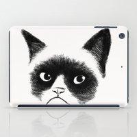 grumpy iPad Cases featuring Grumpy Cat by Tummeow