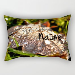 Be one with nature Rectangular Pillow