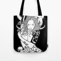 "tatoo Tote Bags featuring Tatoo Ink ""Black Lotus"" by CRYSTAL_ICE"