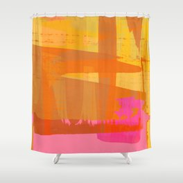 abstract fucsia Shower Curtain