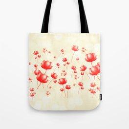 Flying flowers Tote Bag