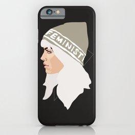 Feminist (Silver) iPhone Case