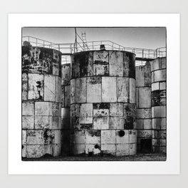 Mondrian Tanks in Clayton Art Print