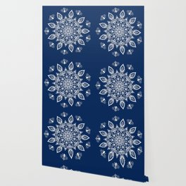 RB Mandala Design with botanical elements Wallpaper