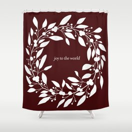 Christmas Wreath with Berries II Shower Curtain