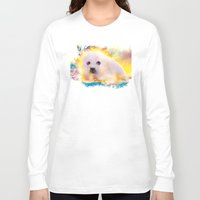 seal Long Sleeve T-shirts featuring  curious seal by ururuty