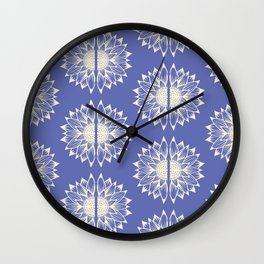 Sunflower Mandala(Lavender)  Wall Clock