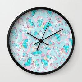 BUTTERFLIES BLUE Wall Clock