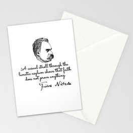 Friedrich nietzsche quotes Stationery Cards