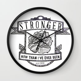 Stronger Quote Wall Clock