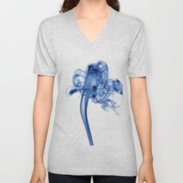 Blue smoke Unisex V-Neck