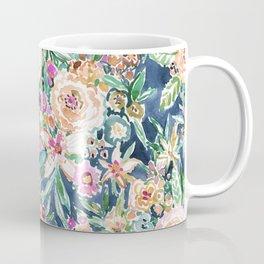 Navy MAUI MINDSET Colorful Tropical Floral Coffee Mug