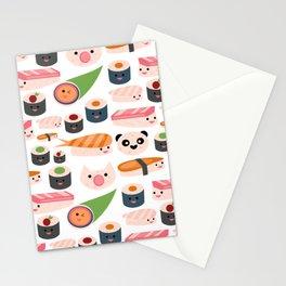 Kawaii sushi white Stationery Cards
