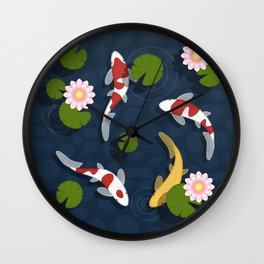 Japanese Koi Fish Pond Wall Clock