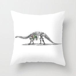 Brachio-foliage-asaurus Throw Pillow
