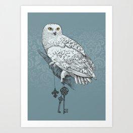 Secrets of the Snowy Owl Art Print