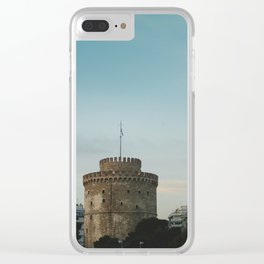 White Tower Clear iPhone Case