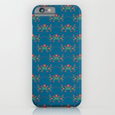 Small floral kitchen collection blue iPhone 6s Slim Case