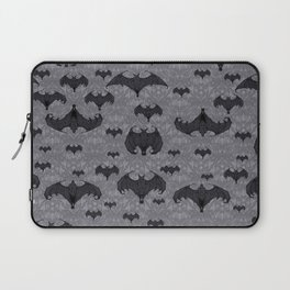 Balinese Bat Colony Print - Gray Laptop Sleeve