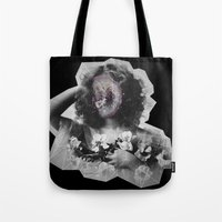 geode Tote Bags featuring Geode Face by hunnydoll