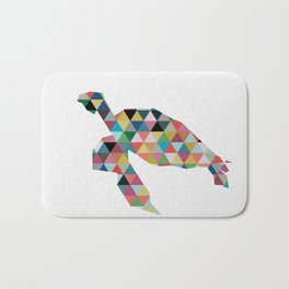 Colorful Geometric Turtle Bath Mat
