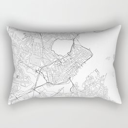 Portland Maine White Map Rectangular Pillow