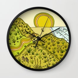 keen for a surf nz surf adventure by surfy birdy Wall Clock