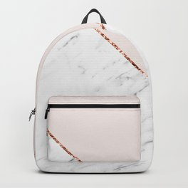 Peony blush geometric marble Backpack