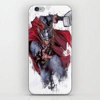 thor iPhone & iPod Skins featuring Thor by Isaak_Rodriguez