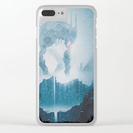 Somethings moving in the snow... Clear iPhone Case
