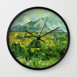 "Paul Cezanne ""Mont Sainte-Victoire"", c.1906 Wall Clock"