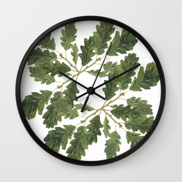 Oak leaf ensemble Wall Clock