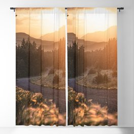 Rocky Mountain Sunset Blackout Curtain